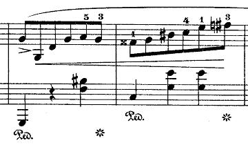 ショパン「ワルツ第7番嬰ハ短調Op.64-2」抑揚を付ける部分のピアノ楽譜