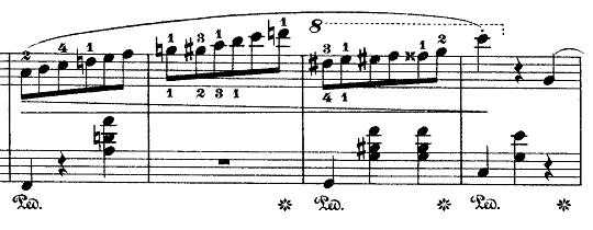 ショパン「ワルツ第7番嬰ハ短調Op.64-2」弾きづらい部分のピアノ楽譜