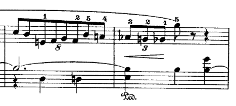 ショパン「ワルツ第7番嬰ハ短調Op.64-2」8連符のピアノ楽譜
