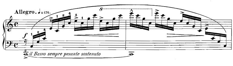 ショパン「エチュードop.10-1ハ長調」ピアノ楽譜1