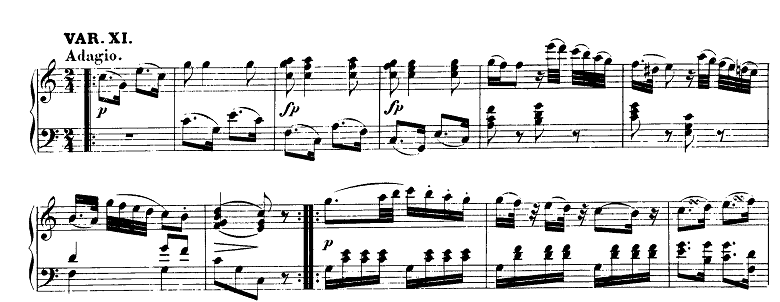 モーツァルト「「きらきら星変奏曲」ハ長調K.265」ピアノ楽譜3