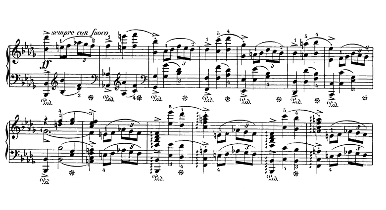 ショパン「スケルツォ第2番変ロ短調Op.31」ピアノ楽譜8