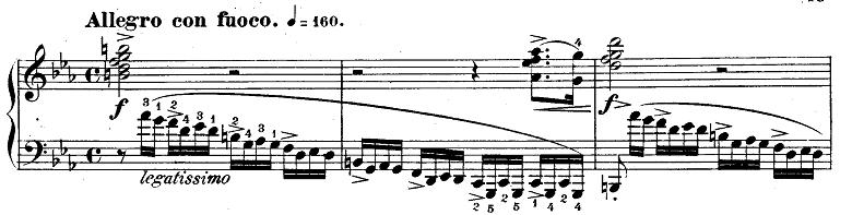 ショパン「革命のエチュード」Op.10-12ハ短調 ピアノ楽譜1