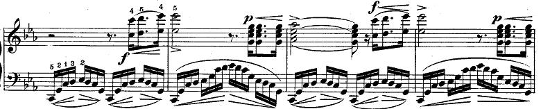 ショパン「革命のエチュード」Op.10-12ハ短調 ピアノ楽譜2