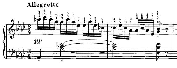 シューベルト『即興曲第4番op90-4』ピアノ楽譜1