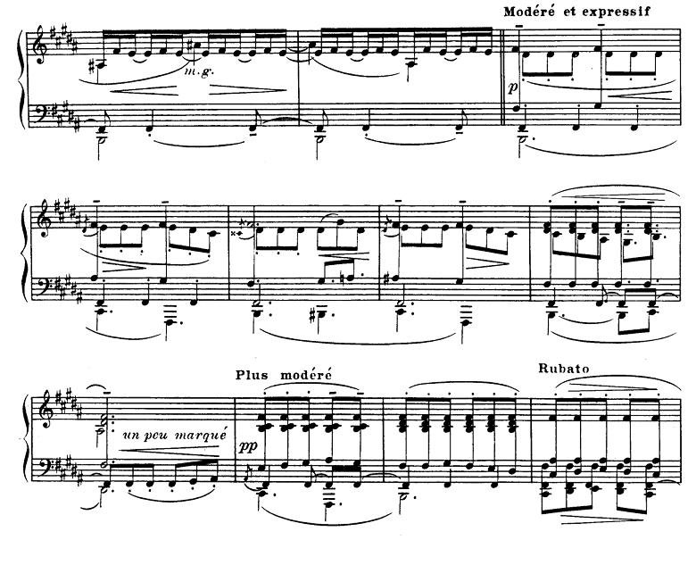 ドビュッシー「前奏曲集第1巻第5曲『アナカプリの丘』ロ長調L.117-5」ピアノ楽譜3
