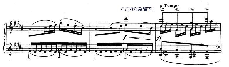 ドビュッシー「前奏曲集第1巻第5曲『アナカプリの丘』ロ長調L.117-5」ピアノ楽譜4