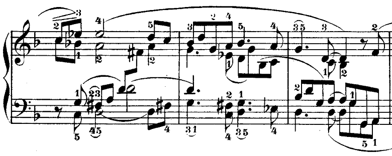 シューマン「トロイメライ」ヘ長調Op.15-7ピアノ楽譜3