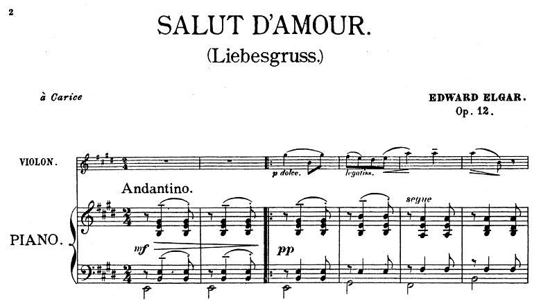 エルガー「「愛の挨拶」ホ長調Op.12」楽譜