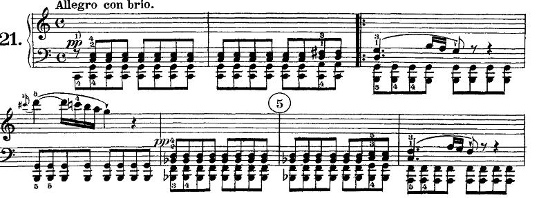 ベートーヴェン「ピアノソナタ第21番「ワルトシュタイン」ハ長調Op.53第1楽章」ピアノ楽譜1