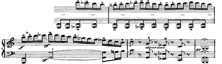 ベートーヴェン「ピアノソナタ第21番「ワルトシュタイン」ハ長調Op.53第1楽章」ピアノ楽譜2