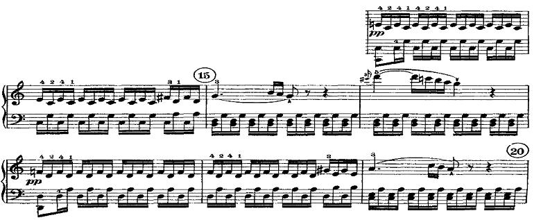 ベートーヴェン「ピアノソナタ第21番「ワルトシュタイン」ハ長調Op.53第1楽章」ピアノ楽譜3
