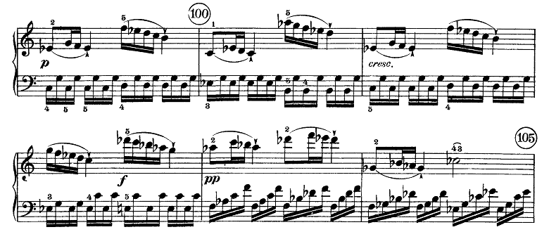 ベートーヴェン「ピアノソナタ第21番「ワルトシュタイン」ハ長調Op.53第1楽章」ピアノ楽譜6