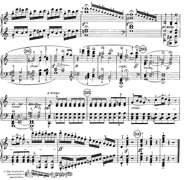 ベートーヴェン「ピアノソナタ第21番「ワルトシュタイン」ハ長調Op.53第1楽章」ピアノ楽譜8