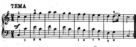 モーツァルト「「きらきら星変奏曲」ハ長調K.265」ピアノ楽譜1