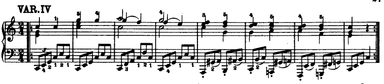 モーツァルト「「きらきら星変奏曲」ハ長調K.265」ピアノ楽譜5
