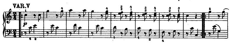 モーツァルト「「きらきら星変奏曲」ハ長調K.265」ピアノ楽譜6