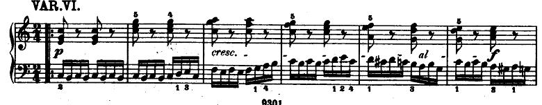 モーツァルト「「きらきら星変奏曲」ハ長調K.265」ピアノ楽譜7