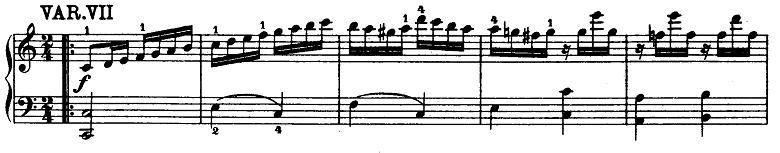 モーツァルト「「きらきら星変奏曲」ハ長調K.265」ピアノ楽譜8