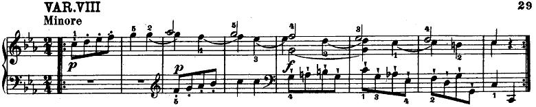 モーツァルト「「きらきら星変奏曲」ハ長調K.265」ピアノ楽譜9