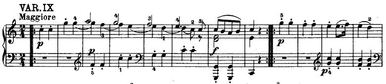 モーツァルト「「きらきら星変奏曲」ハ長調K.265」ピアノ楽譜10