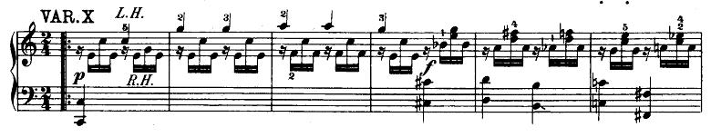 モーツァルト「「きらきら星変奏曲」ハ長調K.265」ピアノ楽譜11