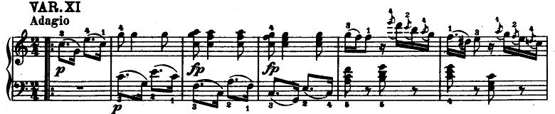 モーツァルト「「きらきら星変奏曲」ハ長調K.265」ピアノ楽譜12