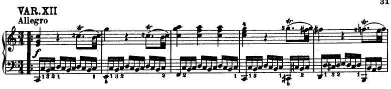 モーツァルト「「きらきら星変奏曲」ハ長調K.265」ピアノ楽譜14