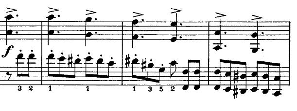 メンデルスゾーン「無言歌集第1巻第3曲「狩の歌」イ長調Op.19-3」ピアノ楽譜5