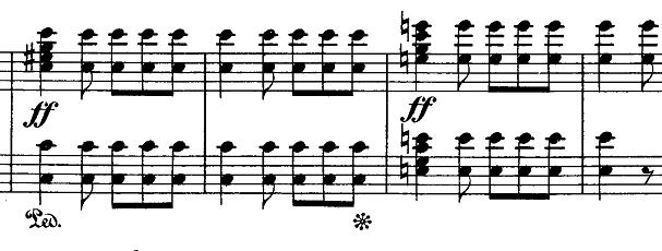 メンデルスゾーン「無言歌集第1巻第3曲「狩の歌」イ長調Op.19-3」ピアノ楽譜6