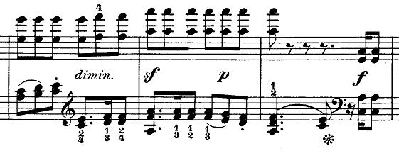 メンデルスゾーン「無言歌集第1巻第3曲「狩の歌」イ長調Op.19-3」ピアノ楽譜7