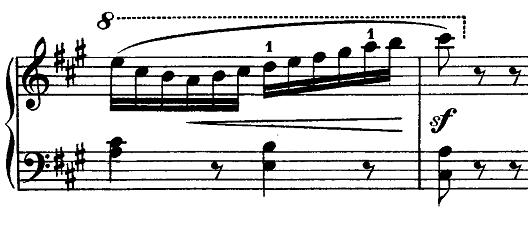 メンデルスゾーン「無言歌集第1巻第3曲「狩の歌」イ長調Op.19-3」ピアノ楽譜9