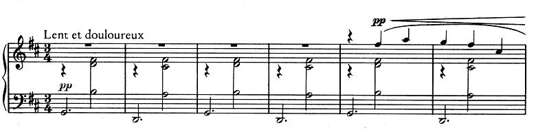 エリック・サティ「3つのジムノペディ」第1番ニ長調 ピアノ楽譜1