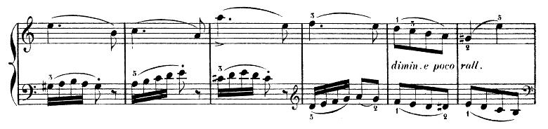 ブルグミュラー「25の練習曲第2番「アラベスク」イ短調Op.100-2」ピアノ楽譜4