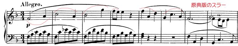 モーツァルト「ピアノソナタ第12番ヘ長調K.332第1楽章」ピアノ楽譜1