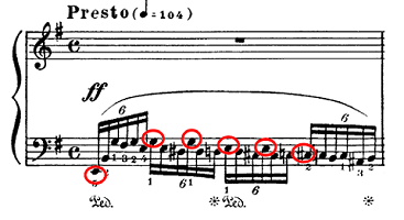 ラフマニノフ「楽興の時第4番ホ短調Op.16-4」ピアノ楽譜2