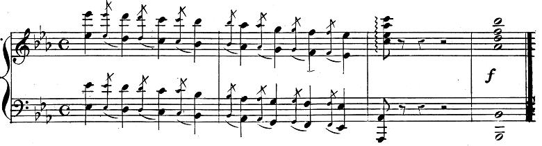 バダジェフスカ「『乙女の祈り』変ホ長調Op.4」ピアノ楽譜1