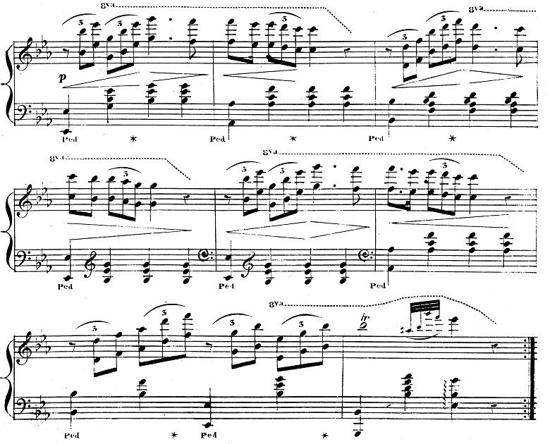 バダジェフスカ「『乙女の祈り』変ホ長調Op.4」ピアノ楽譜2