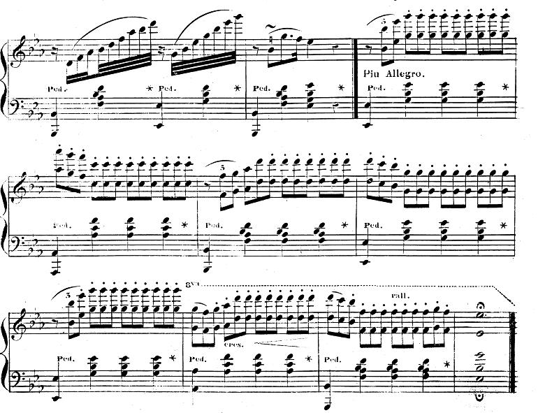 バダジェフスカ「『乙女の祈り』変ホ長調Op.4」ピアノ楽譜3