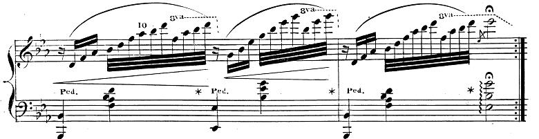 バダジェフスカ「『乙女の祈り』変ホ長調Op.4」ピアノ楽譜4