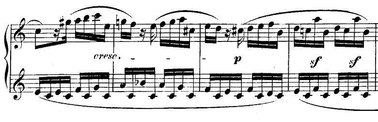 モーツァルト「ピアノソナタ第10番ハ長調K.330第1楽章」ピアノ楽譜11