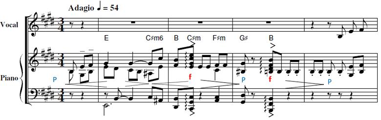 山田耕筰「「この道」ホ長調」ピアノ楽譜2