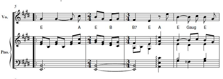 山田耕筰「「この道」ホ長調」ピアノ楽譜3