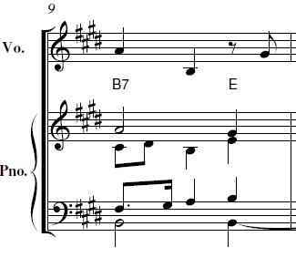 山田耕筰「「この道」ホ長調」ピアノ楽譜5