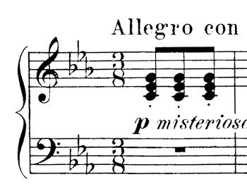 ブルグミュラー「25の練習曲第15番「バラード」ハ短調Op.100-15」ピアノ楽譜3