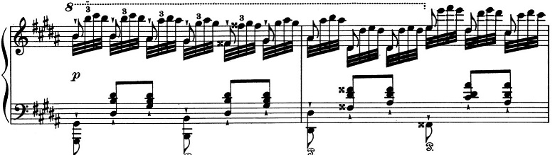 リスト「パガニーニによる大練習曲第3番「ラ・カンパネラ」嬰ト短調S.141-3」ピアノ楽譜4