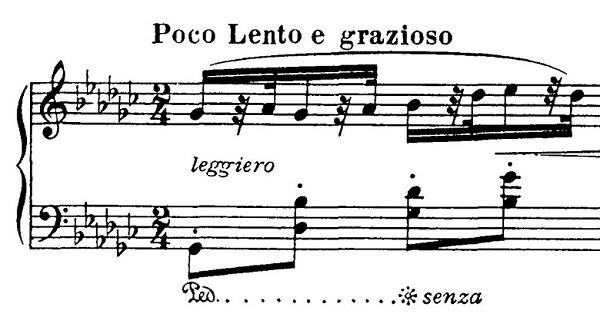 ドヴォルザーク「8つのユーモレスク第7曲変ト長調Op.101-7」ピアノ楽譜1