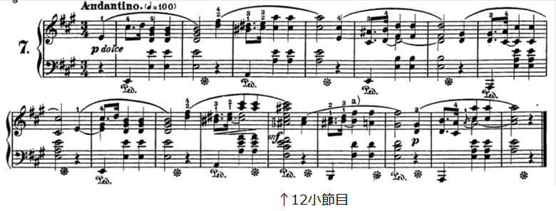 ショパン前奏曲第7番イ長調op.28-7、太田胃散CMのピアノ楽譜