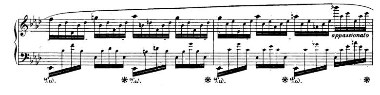 ショパンエチュード『エオリアン・ハープ』 変イ長調Op.25-1ピアノ楽譜2