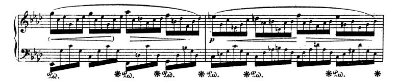ショパンエチュード『エオリアン・ハープ』 変イ長調Op.25-1ピアノ楽譜3